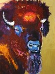 SOLD Blue Nose Bison (available in Giclee)