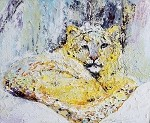 SOLD-Snow Leopard (available in Giclee)